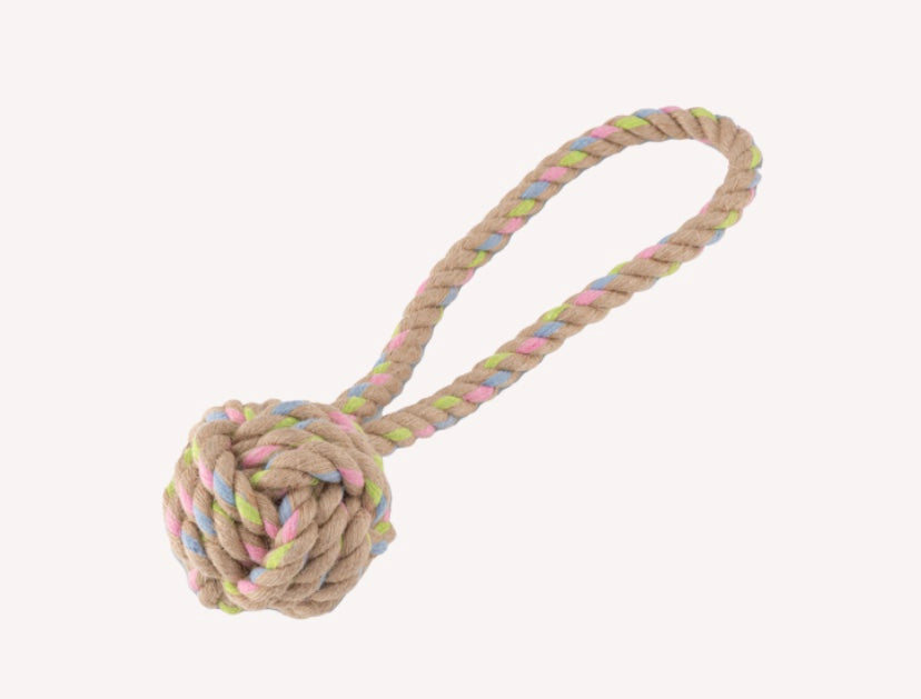 Beco Hemp Rope Ball with Loop