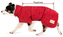 Load image into Gallery viewer, Ruff and Tumble Country Dog Drying Coat (faux leather trim)