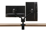 Allsteel Pivot Dynamic Dual Monitor Arms Ergonomic Work from Home Office Furniture Solution