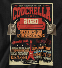 Lade das Bild in den Galerie-Viewer, Couchella 2020 Pandemie Line-Up T-Shirt für Herren