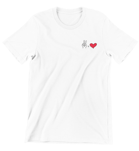 Peace and Love T-Shirt für Frauen