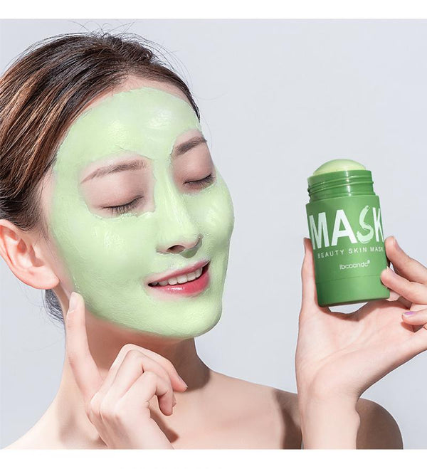 ibcccndc Green Tea Mask 40g Face Moisturizing Oil-control Hyaluronic Acid Mask Whitening Cleans Pores Face Skincare Mask TSLM2