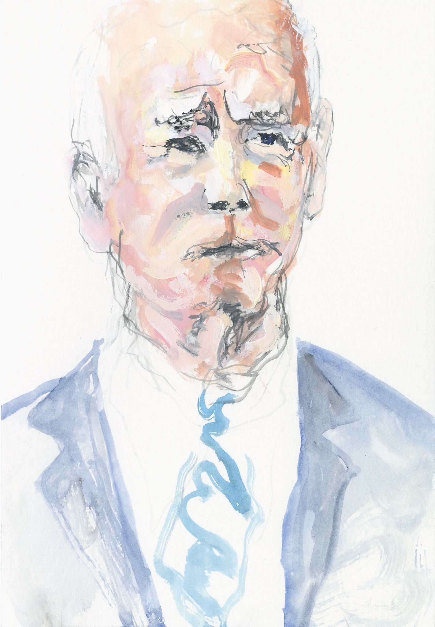 Portrait of President Joe Biden - Study 3