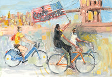 Load image into Gallery viewer, Monumental Bike Protest Painting Study 1 - Justice Ride Original