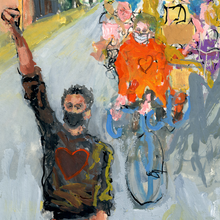 Load image into Gallery viewer, Monumental Bike Protest Painting Study 2 - No Hands