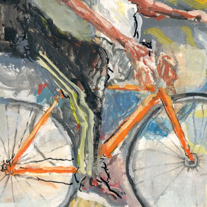 Monumental Bike Protest Painting Study 1 - Justice Ride Original
