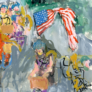 Monumental Bike Protest Painting Study 2 - No Hands