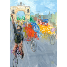 Load image into Gallery viewer, Monumental Bike Protest Painting - Diptych - No Hands