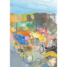 Load image into Gallery viewer, Monumental Bike Protest Painting - Diptych - No Hands Original