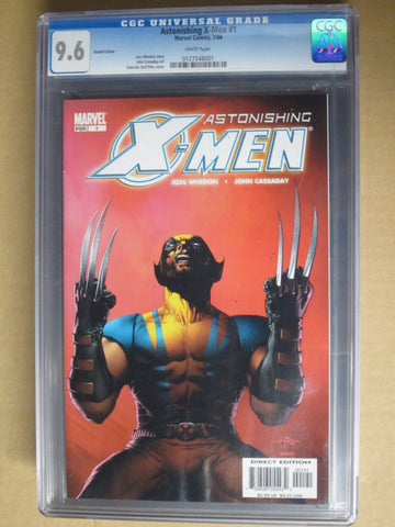Astonishing X-Men 1 Wolverine Variant Cover CGC 9.6