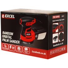 Load image into Gallery viewer, Excel 125mm Random Orbital Sander 240V with Dust Box Extra 30 Sanding Pads