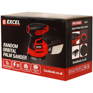 Excel 125mm Random Orbital Sander 240V with Dust Box Extra 30 Sanding Pads