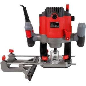 "Excel 1/2"" Electric Plunge Router Variable Speed 240V with 12 Piece Cutter Set"