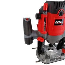 "Load image into Gallery viewer, Excel 1/2"" Electric Plunge Router Variable Speed 240V with 12 Piece Cutter Set"