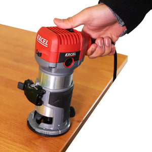 Excel 710W Electric Wood Hand Trimmer/Router 240V