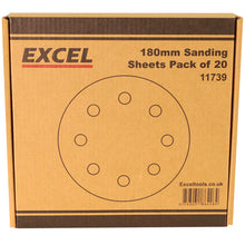 Load image into Gallery viewer, Excel 180mm Sanding Sheet Pack of 20 Piece