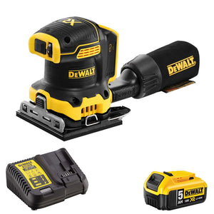 Dewalt DCW200N 18V Brushless 1/4 Sheet Palm Sander 1 x 5.0Ah Battery & Changer