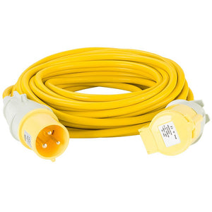 Connexion 14m 1.5mm 32A Yellow Extension Cable Trailing Lead 110V