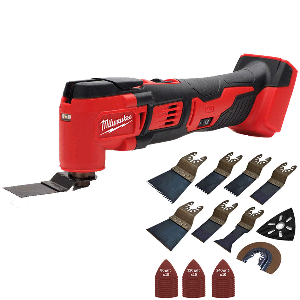 Milwaukee M18BMT-0 M18 18V Compact Multi Tool Body with 39 Piece Accessories Set