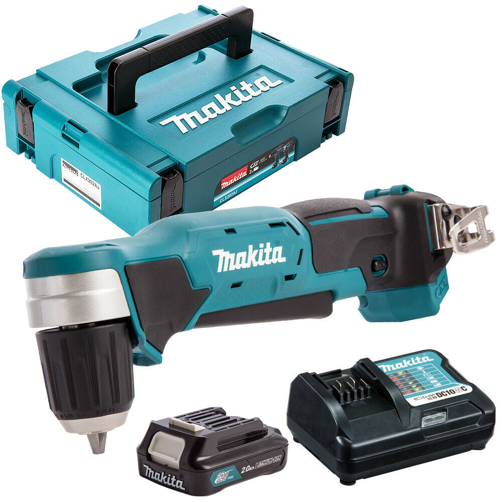 Makita DA333DZ 12V CXT Angle Drill with 1 x 2.0Ah Battery & Charger in Case