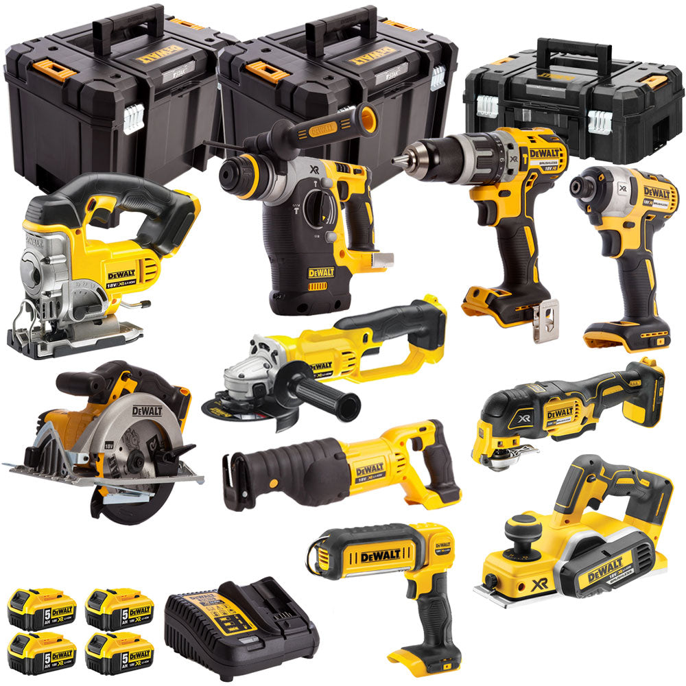 DeWalt DCKT4T10AP4 18v XR Li-ion 10pc 4 x 5.0Ah Batteries T-Stak Kit