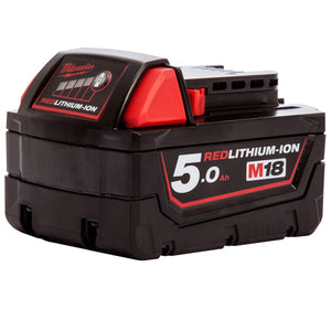 Milwaukee M18 18V Red Lithium-ion 5.0Ah Battery M18B5 - 4932430483