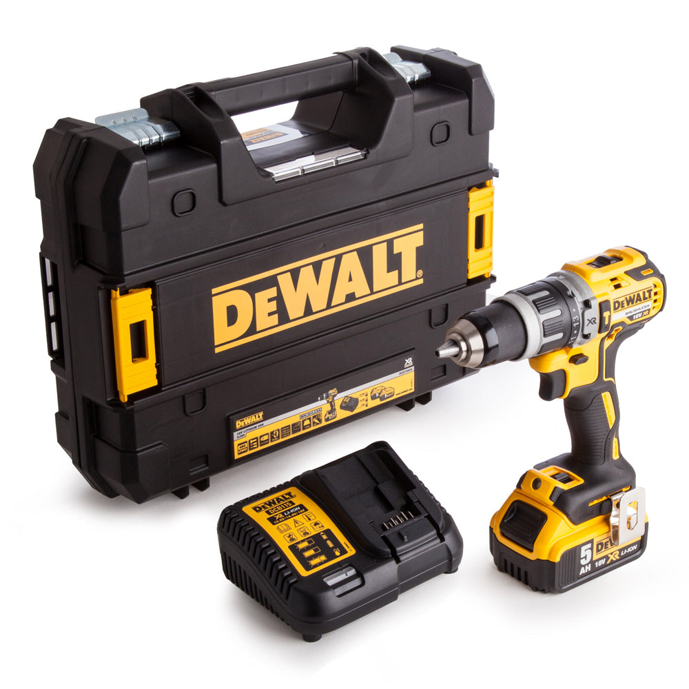 Dewalt DCD796P1 18V Brushless Combi Drill With 1 x 5.0Ah Li-ion Battery Charger