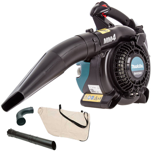 Makita BHX2501 4 Stroke Hand Held Petrol Leaf Blower with Vacuum Attachment 197235-3