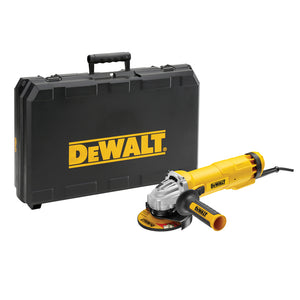 "Dewalt DWE4206K 240V 115mm 4.5"" Mini Corded Angle Grinder With Kitbox"