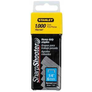 Stanley TRA704T 6mm Heavy-Duty Staple 6mm Pack of 1000 STA1TRA704T