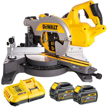 Load image into Gallery viewer, Dewalt DCS777T2 54V Brushless Miter Saw 216mm with 2 x 6.0Ah Flexvolt