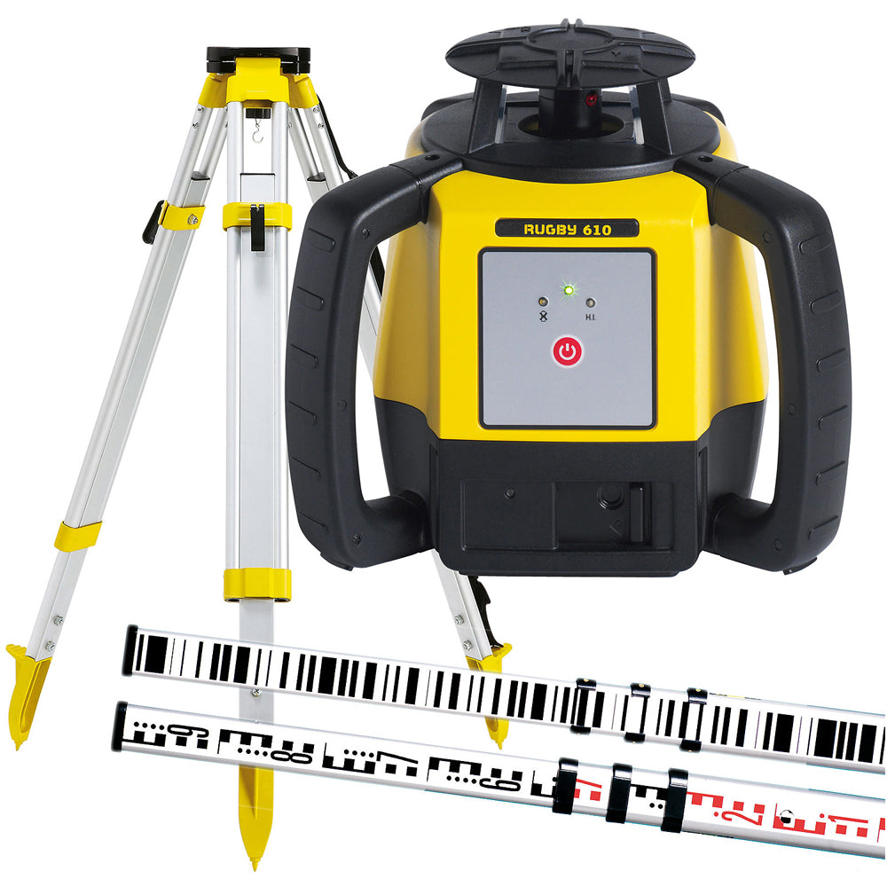 Leica RUGBY610A Rugby 610 Rotating Laser Level Alkaline