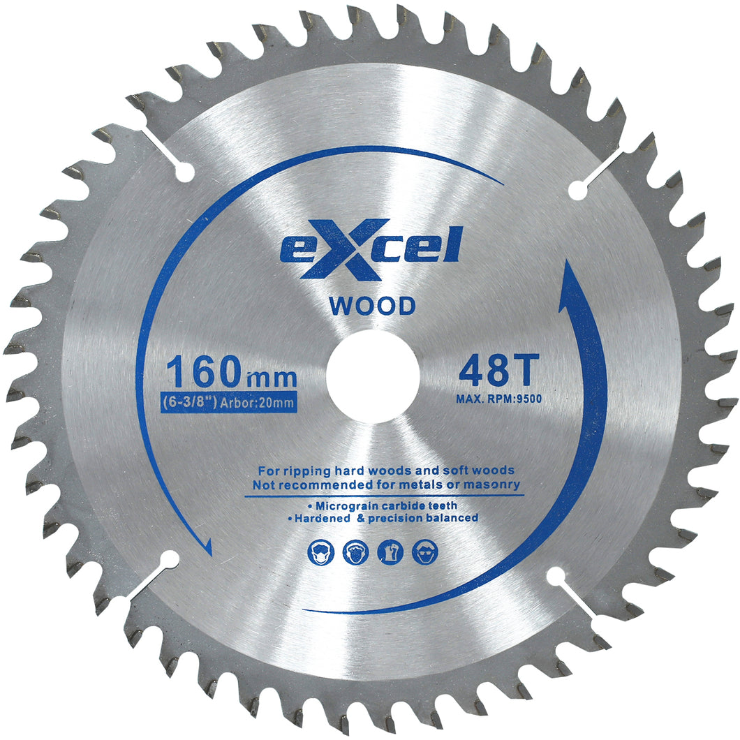 Excel Plunge Saw Blade 160MM 48 Tooth for Wood