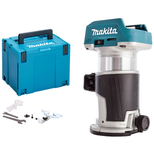 Makita DRT50ZJ 18V LXT Li-ion Brushless Router Trimmer Body with Makpac Case