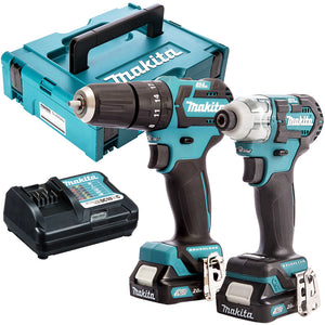 Makita CLX205AJ 10.8V CXT 2 Piece Brushless Kit with 2 x 2.0Ah Batteries & Charger in Case