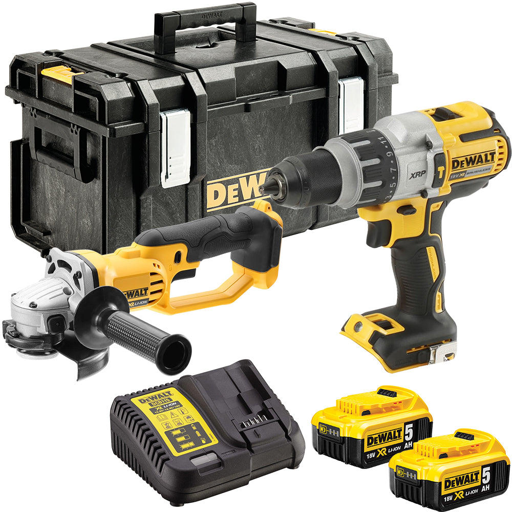 DeWalt DCK278P2 18V Twin Kit with 2 x 5.0Ah Batteries & Charger in Toughsystem Kit Box