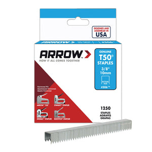 Arrow T50 Staples Box 1250 6mm 1/4in ARRT5014S