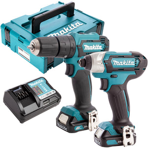Makita CLX228AJ 12V Max CXT 2 Piece Cordless Kit with 2 x 2.0Ah Batteries & Charger in Case