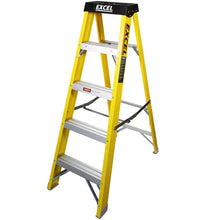 Load image into Gallery viewer, Excel HD Electricians Fibreglass Step Ladder 5 Tread 1.3M