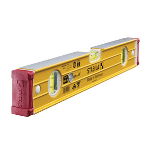 "Stabila 96-2 400mm/16"" Double Plumb Ribbed Box Section Level STB96240"