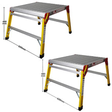 Load image into Gallery viewer, Excel 600 x 600mm Fibreglass Heavy Duty Platform Folding Hop Up Pack of 2