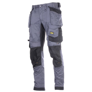 "Snickers 6251-104 Steel Grey Stretch Loose Fit Trouser W36"" L30"""