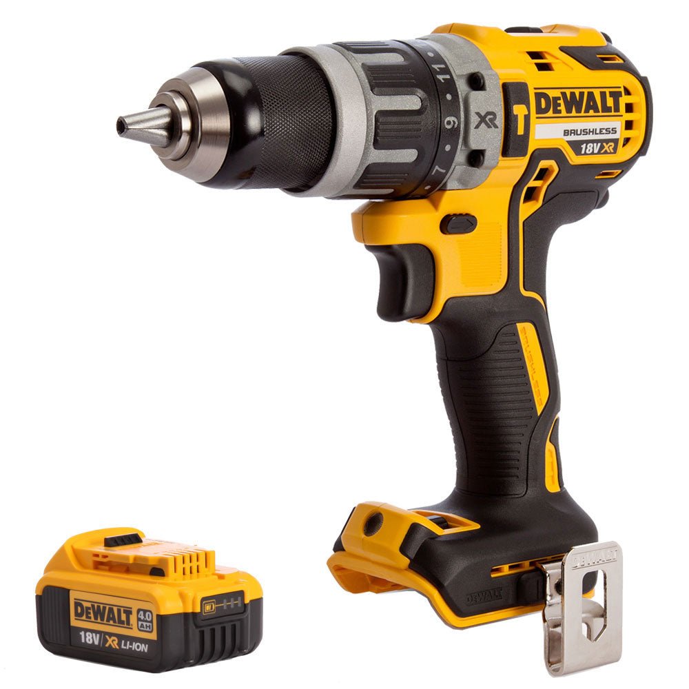 Dewalt DCD796N 18v XR Brushless 2 Speed Combi Drill With 1 x 4.0Ah Battery