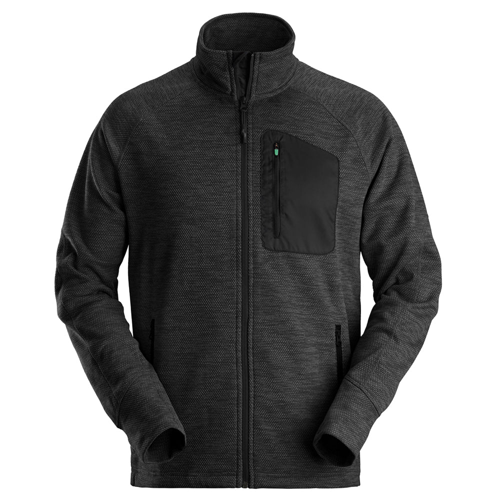 Snickers 80420404007 Black FlexiWork Fleece Jacket Size XL