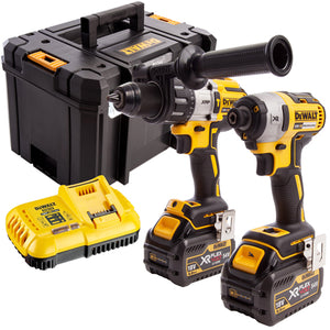 Dewalt DCK276T2T 18V Brushless Twin Pack 2 x FLEXVOLT 6.0Ah Batteries & Charger