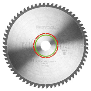 Festool 494606 Special Saw Blade 260x2,5x30 TF64