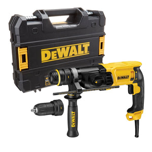DeWalt D25134K 240V SDS 3 Mode Hammer with Quick Change Chuck In Case