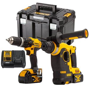 Dewalt DCK206M2T 18V Twin Kit with 2 x 4.0Ah Batteries & Charger in Tstak Kitbox