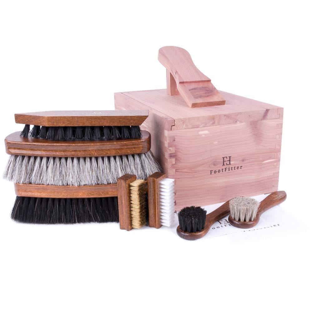 FootFitter 7-Piece Brush Set in Valet Box FootFitter