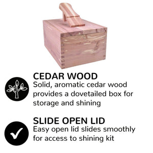 FootFitter Elite Cedar Shoe Shine Valet Set with Shoe Cream FootFitter